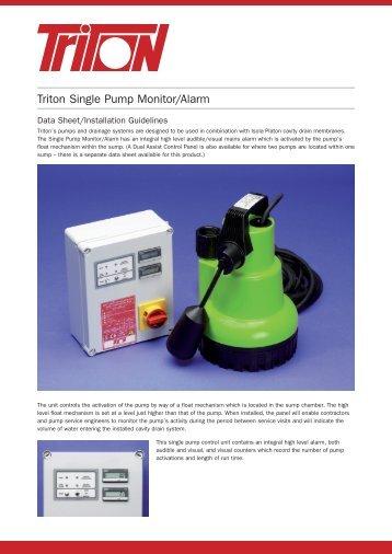 Single Pump Control Panel Data Sheet Download
