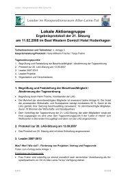 21. LAG-Sitzung am 11.02.2008 - bei Leader im Aller-Leine-Tal