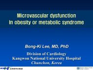 Microvascular dysfunction In obesity or metabolic syndrome