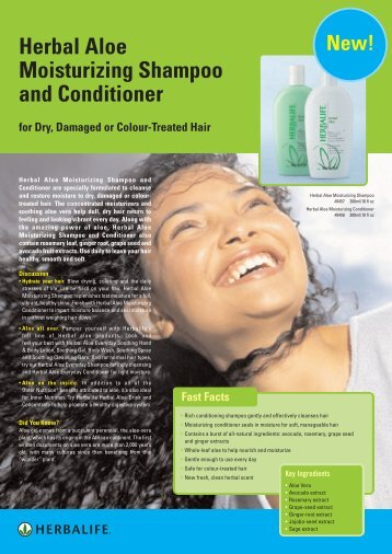 Herbal Aloe Moisturizing Shampoo and Conditioner - Herbalife