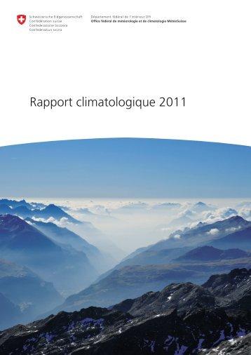 Rapport climatologique 2011 PDF - MeteoSwiss - admin.ch