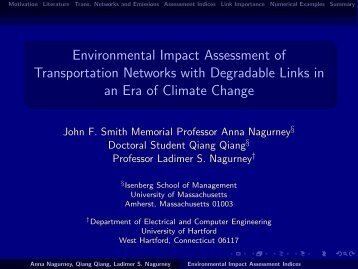 Environmental Impact Assessment of Transportation Networks with ...