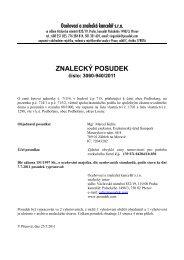 ZNALECKÝ POSUDEK číslo: 3060-940/2011 - OKdrazby.cz