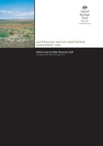 australian native vegetation assessment 2001 - National Program ...