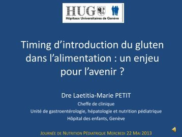 Timing d'introduction du gluten dans l'alimentation
