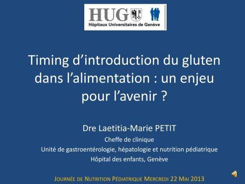 Timing d'introduction du gluten dans l'alimentation