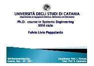 Pappalardo Fulvio Livio - Phd.dees.unict.it - Università degli Studi di ...