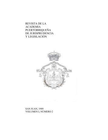 Revista Volumen I-2 - Academia Puertorriqueña de Jurisprudencia y ...
