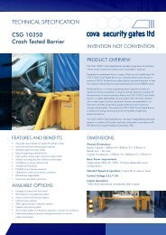 CSG 10350 Crash Tested Barrier - Cova Security Gates