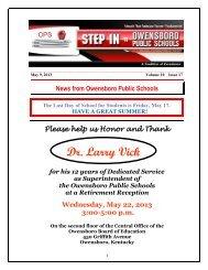 Volume 10 Issue 17 May 9 2013 - Owensboro Public Schools