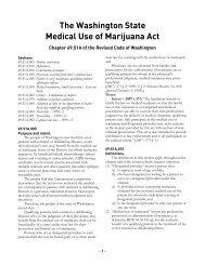 The Washington State Medical Use of Marijuana Act - ACLU of ...