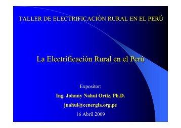 La Electrificación Rural en el Perú - Tech4CDM