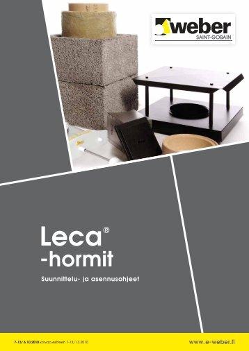 Suunnittelu- ja asennusohjeet: Leca-hormit - Taloon.com