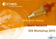 Mission status, DORIS network, IDS Workshop 2010