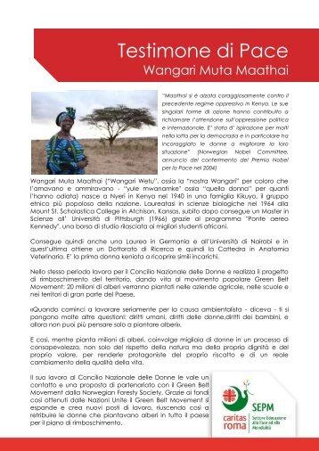 Wangari Muta Maathai - Caritas Roma