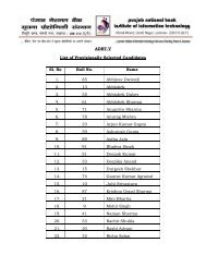 ADBT-V List of Provisionally Selected Candidates Sl. No Roll No ...