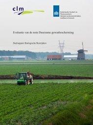Evaluatie van de nota Duurzame gewasbescherming - Clm