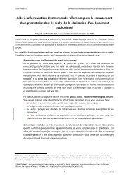 Aide à la formulation des termes de référence pour le ... - Africa Adapt