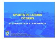 accidents sports de loisir - SMUR BMPM