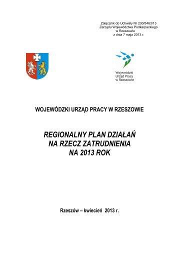 Rozdział 1 - Wojewódzki Urząd Pracy w Rzeszowie