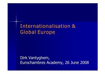 O.2 Internationalisation and Global Europe - Eurochambres Academy