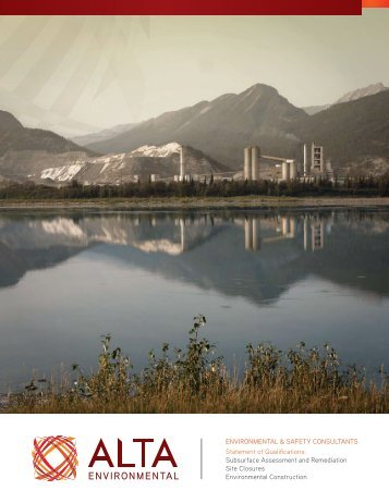 Statement of Qualifications - Alta Environmental