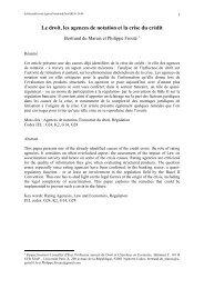 Le droit, les agences de notation et la crise du crédit - EconomiX