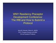 WNY_Residency_Precep.. - University at Buffalo School of ...