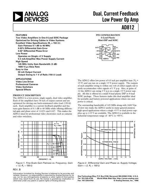 180 kHz ± 1.25 V ± 22 V, Dual amplificador de 2 0.06 V//µs Amplificador operacional