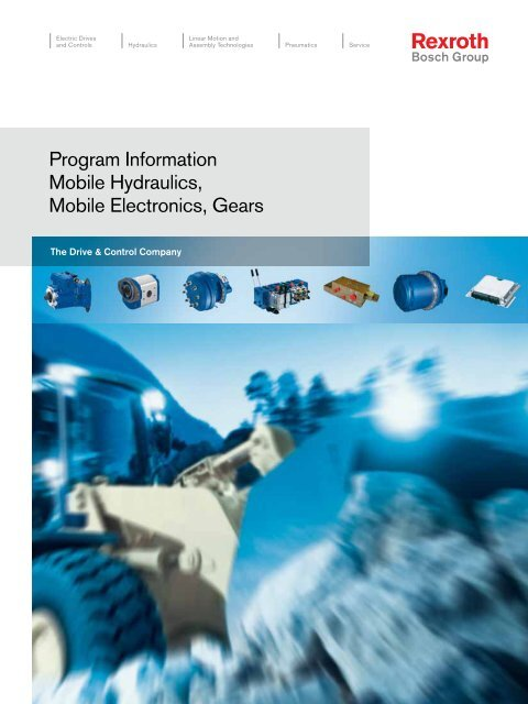 Program Information Mobile Hydraulics, Mobile     - Bosch Rexroth AG