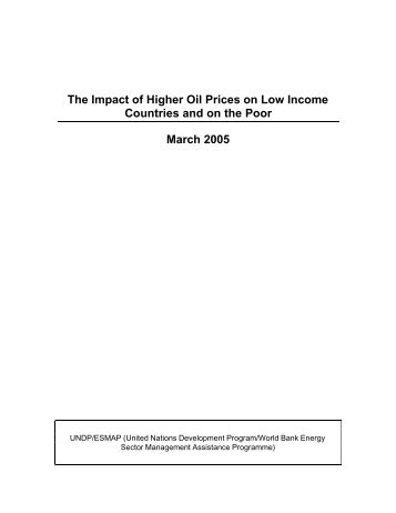 The Impact of Higher Oil Prices on Low Income ... - CommDev