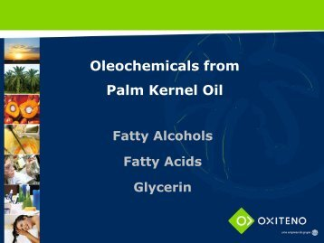 Oleochemicals from Palm Kernel Oil - abq