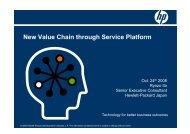 New Value Chain through Service Platform - APNOMS