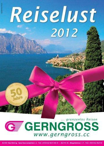 Jahreskatalog 2012 - Reisebüro Gerngross GmbH