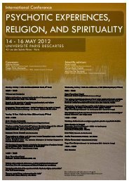 psychotic experiences, religion, and spirituality - Centre de ...