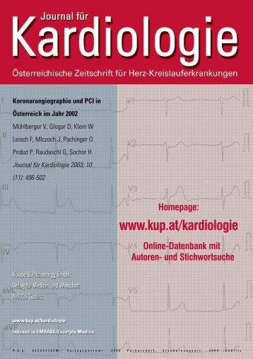 Koronarangiographie und PCI in Österreich im Jahr 2002 - Invasive ...