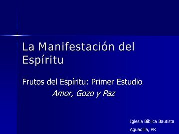 El Espíritu Santo - Iglesia Biblica Bautista de Aguadilla, Puerto Rico