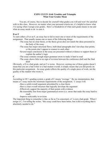 Essay criteria