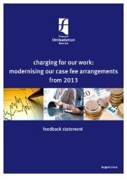 modernising our case fee arrangements from 2013 - Financial ...