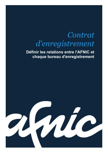 Article 6 – Droits / obligations de l'Office d'enregistrement - Afnic