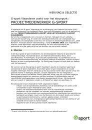 projectmedewerker G-sport Vlaanderen2