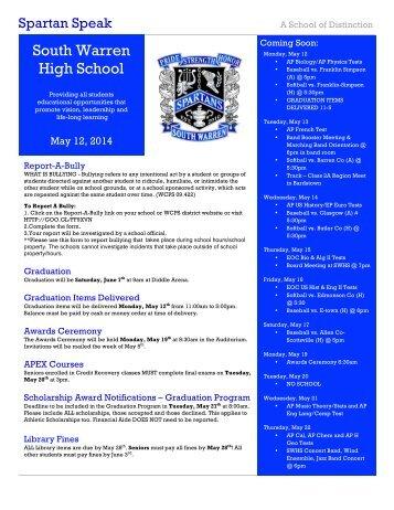 Spartan Speak - Warren County Schools
