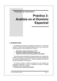 Práctica 3: Análisis en el Dominio Espectral