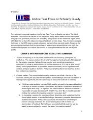 Ad-hoc Task Force on Scholarly Quality - Midwest Sociological Society