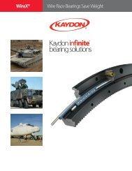 WireX® Wire-Race Bearings brochure - Kaydon Bearings