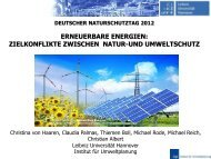 EE-Zielkonflikte zwischen Natur und Umweltschutz - Deutscher ...