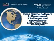 Open Source Software in Government: Challenges and ... - Mil-OSS