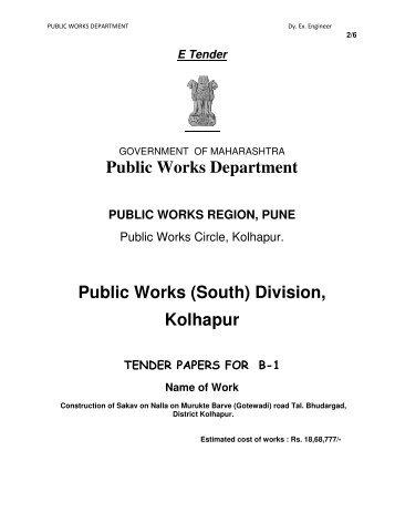 Public Works Depa Public Works Public Works ... - e-Tendering