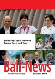 Eröffnungsapéro mit Wirt Franco Rossi und Team - Tennis Club Chur