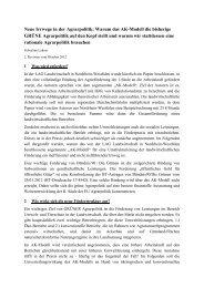 Neue Irrwege in der Agrarpolitik: Warum das AK ... - Kasseler Institut